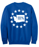 WA3% Crew Neck Sweatshirt