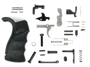 AR15 Lower Parts Kit w/Black Pistol Grip