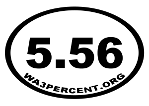 "4.38"" x 3"" - 5.56 Oval Decal"