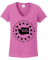 WA3% Ladies V-Neck T-Shirt